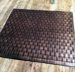 Weaved Copper Mat