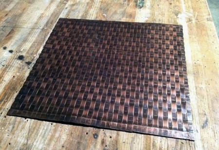 Weaved Copper Mat