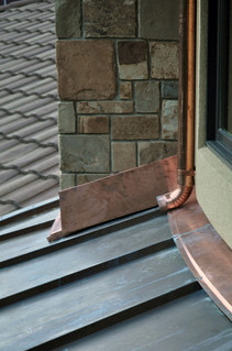 Copper Roof Panels and Flashing