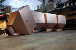 Copper Scupper Boxes Just After Fabrication