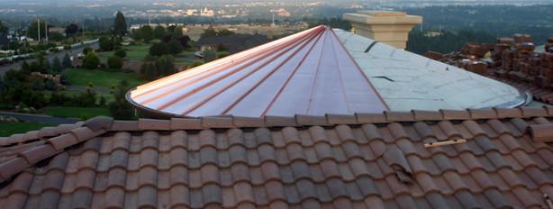 Copper Turret Roof in Progress