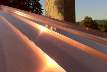 Copper Panels in the Morning