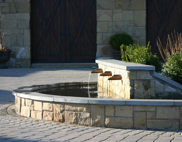 Copper Water Feature for a Turnaround Driveway