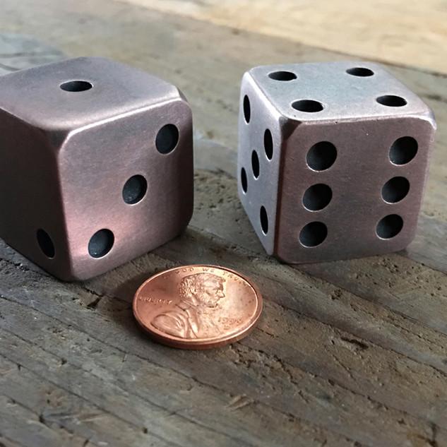 Copper Dice ~ 1 Inch x 1 Inch