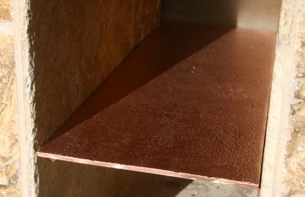 Hammered Copper Shelf