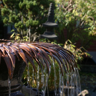 Copper Water Feature for a Garden
