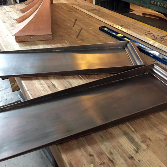 Copper Side Panels for a Copper Planter Box