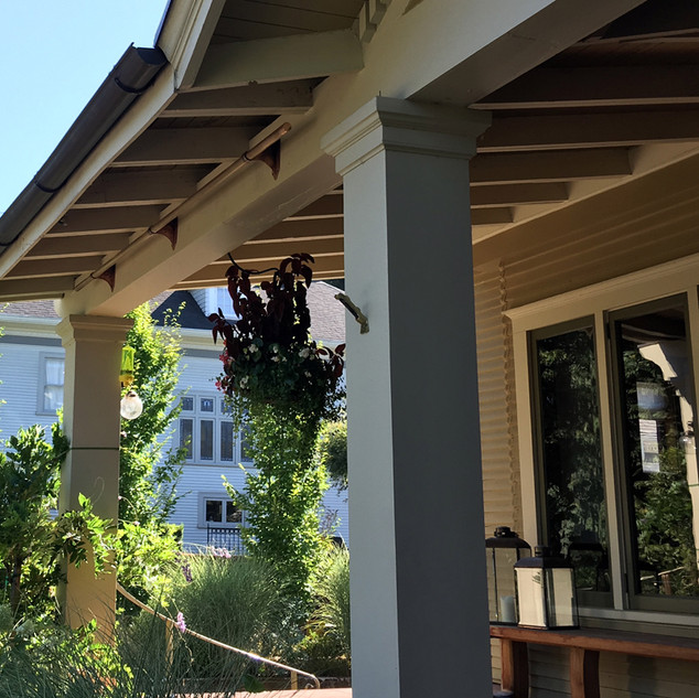Copper Hooks and Rod to Train Wisteria