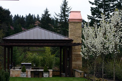 Copper Roof on Gazebo and Copper Chimney Cap