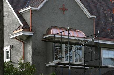 Copper Barrel Roof Feature