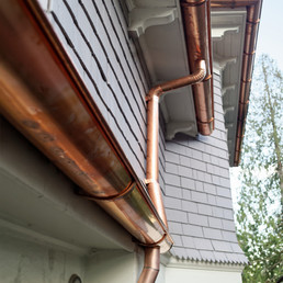 Half Round Copper Gutters and Downspouts