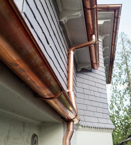 Copper Half Round Gutter System