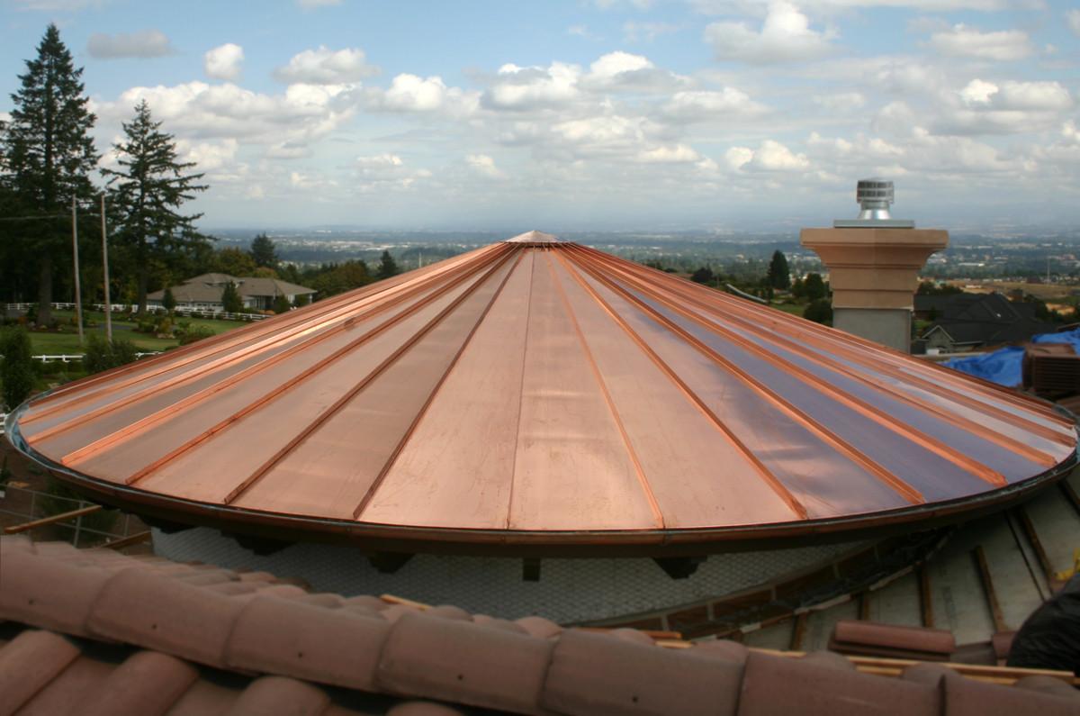 Copper Radius Half Round Gutters