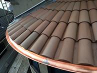 Radius Copper Half Round Gutter