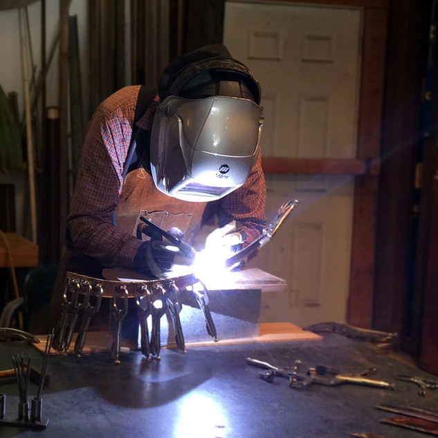 Copper Welding for an Awning