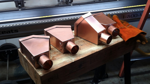 Copper Leaf-Catch Boxes Just Fabricated