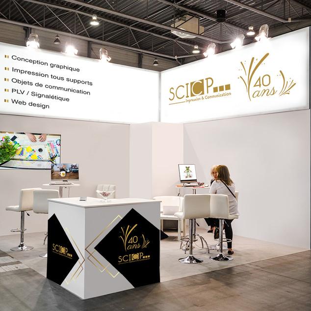 stand salon SCICP Impression & communication laval 53