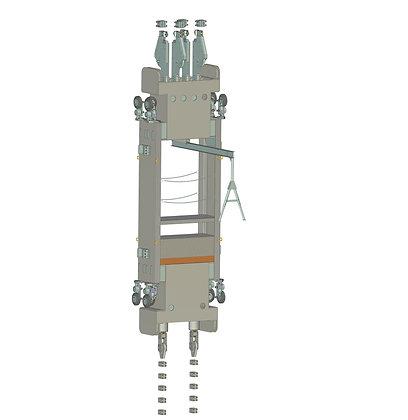 Противовесы для двухэтажных клетей многоканатного подъёма