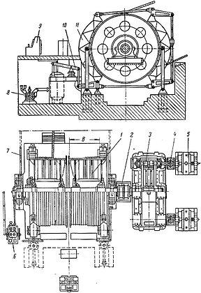 Подъемная шахтная машина