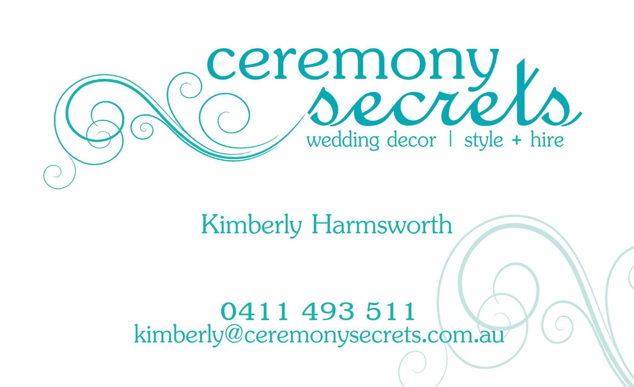 Ceremony Secrets Business Card