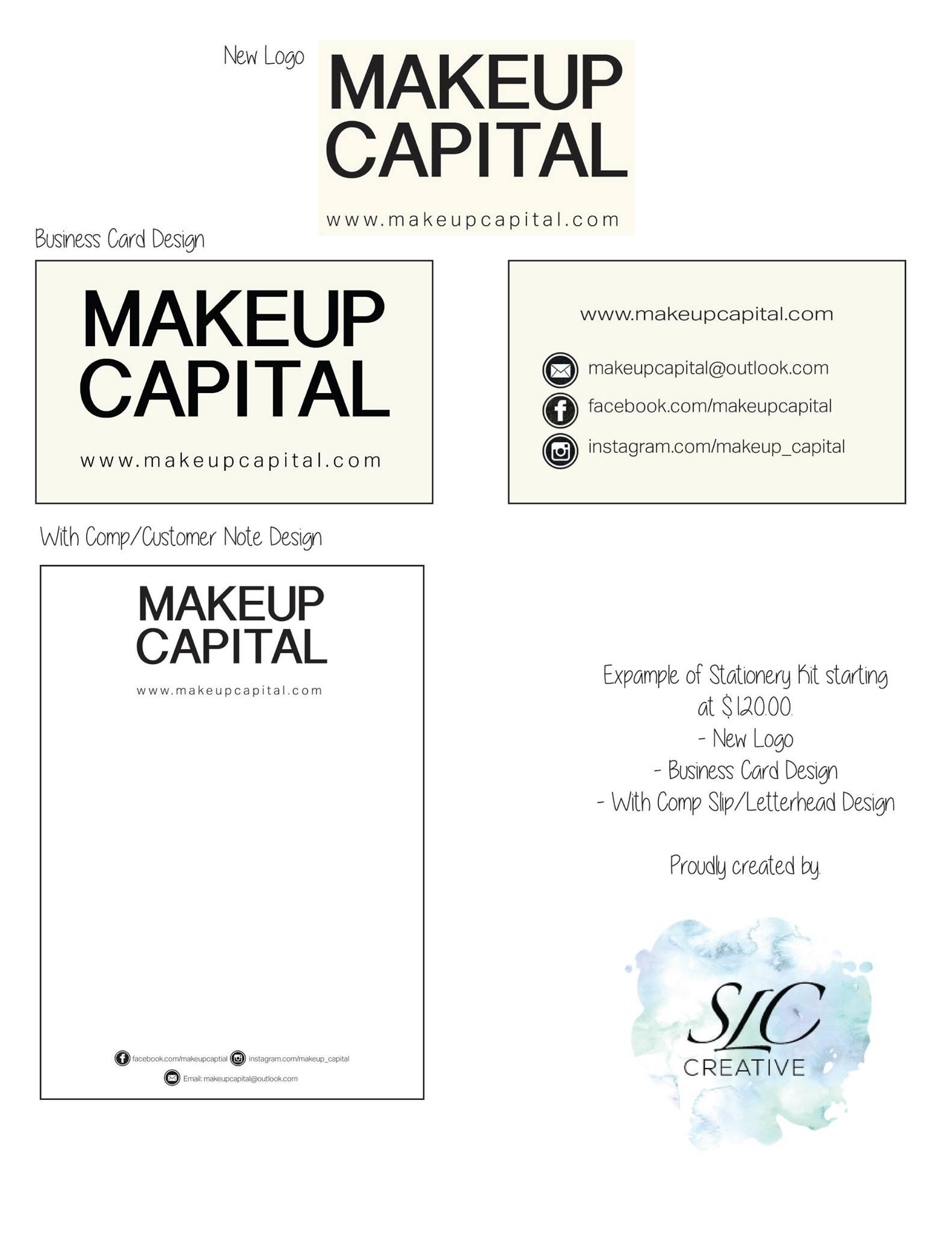 Makeup Capital Stationery