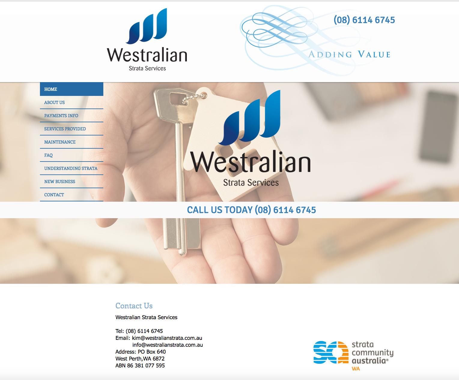Westralian Strata Services Website