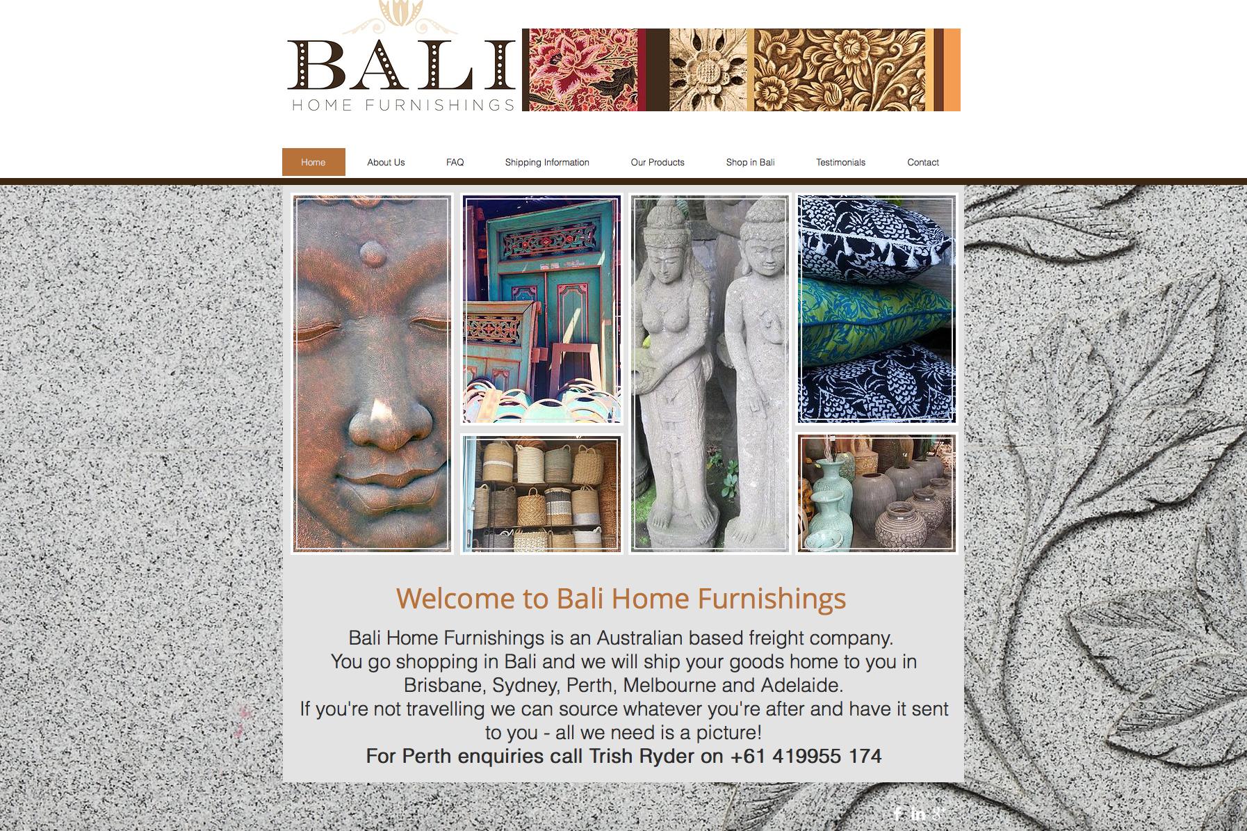 Bali Home Furnishings Website
