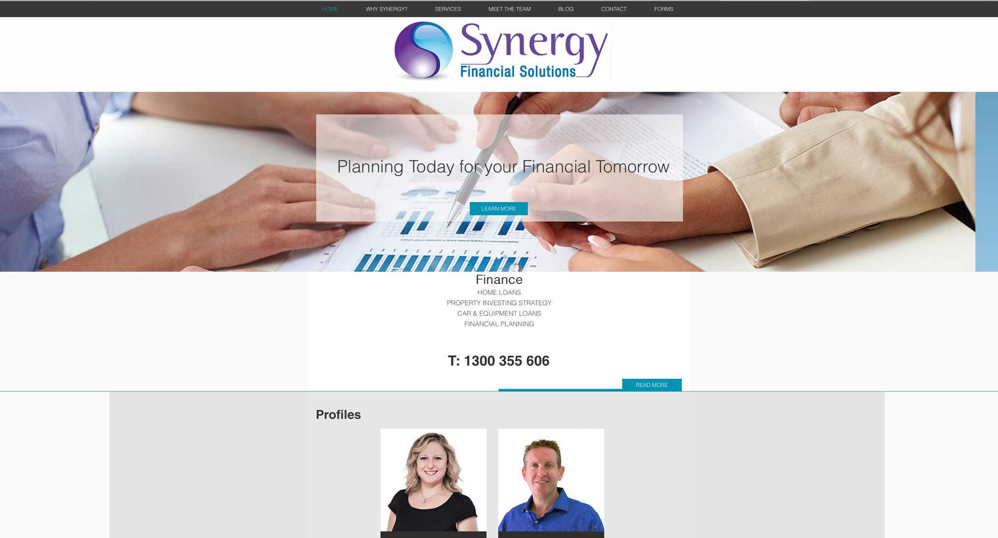 Synergy Financial Solutions Website