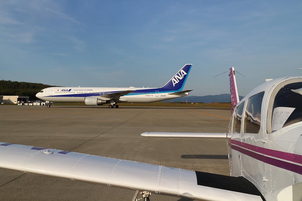 庄内空港にて