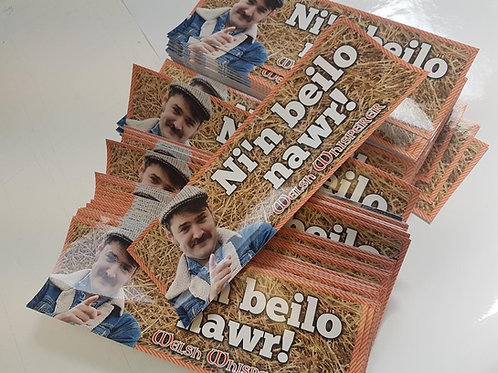 Sticeri Car 'NI'N BEILO NAWR!' Bumper sticker