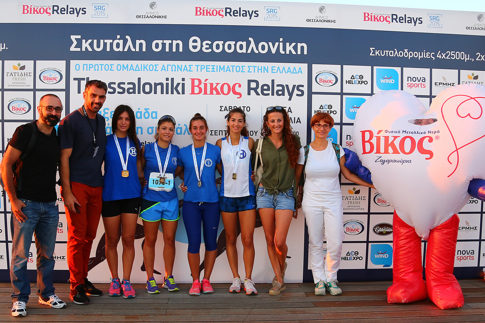 Οι τέσσερις αθλήτριες της ομάδας στίβου  του ΗΡΑΚΛΗ στα Βίκος Street Relays 4 Χ