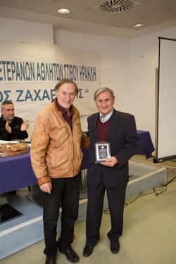 Τιμονίδης Σάββας βραβείο από Μίλτο Κυπαρίσση
