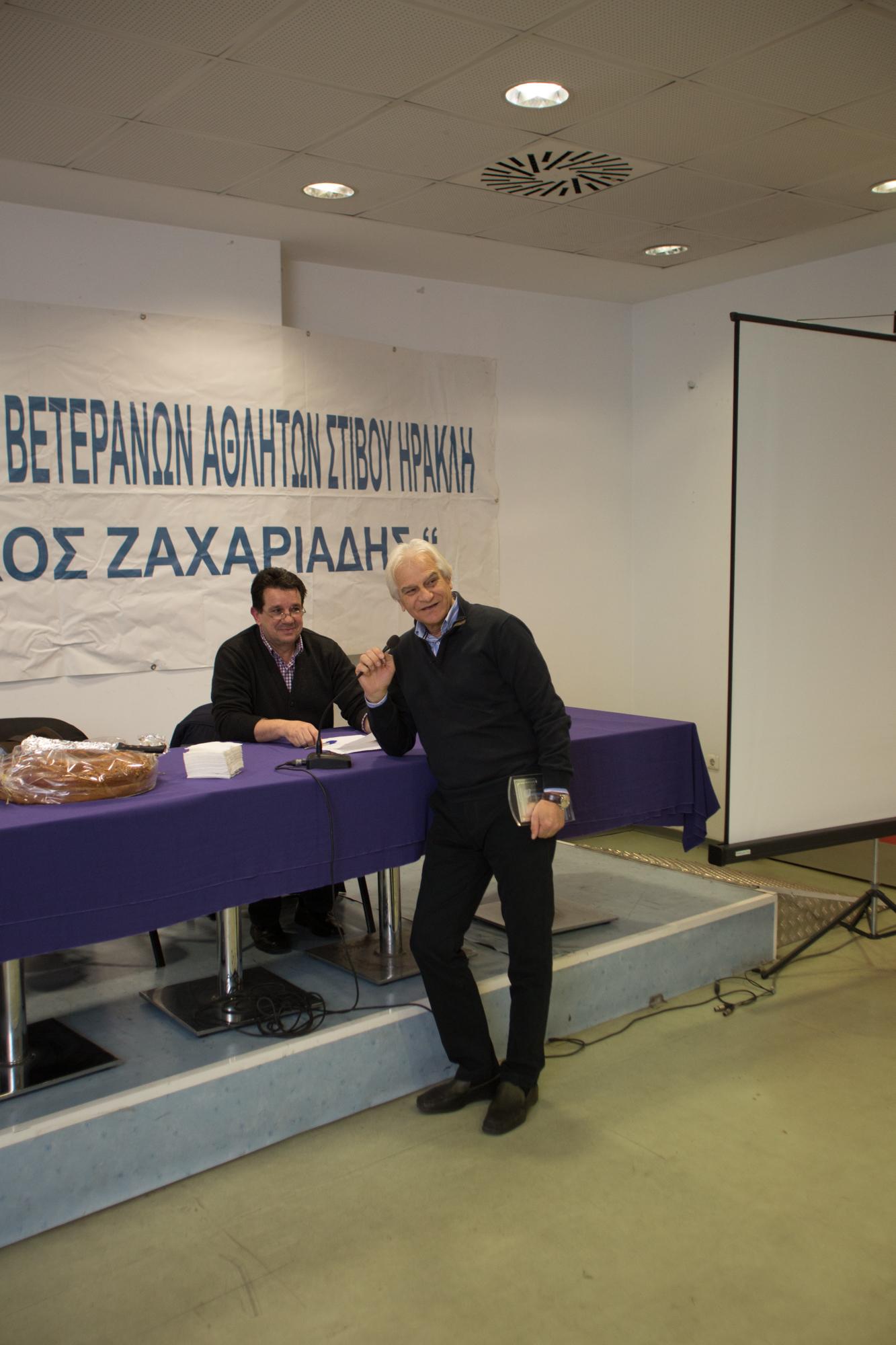 Βαλσαμίδης Βασίλης με τον αντιπρόεδρο του ΣΒΕΣΗ Δημ.Χασανίδη