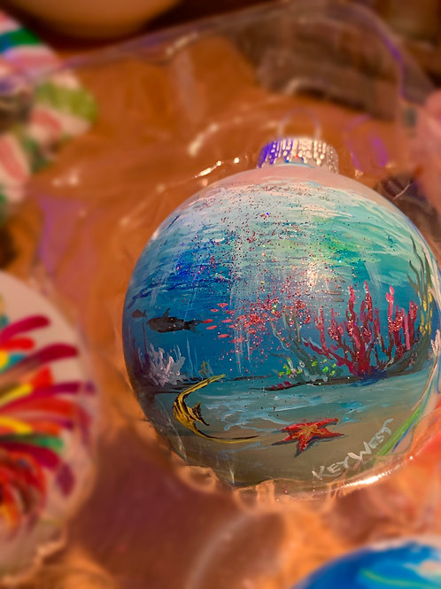 Customized Hand Painted Ornament Underwater