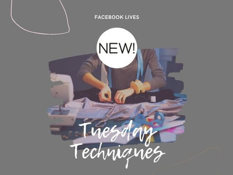 NEW! Tuesday Techniques on Facebook Live