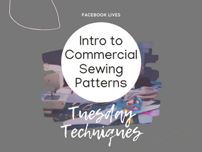 1.1 - Intro to Commercial Sewing Patterns