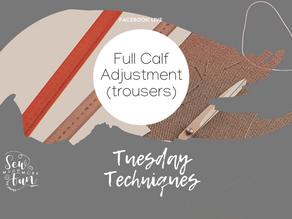 1.17 Full Calf Adjustments (Trousers)