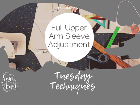 1.11 Full Upper Arm Sleeve Adjustment