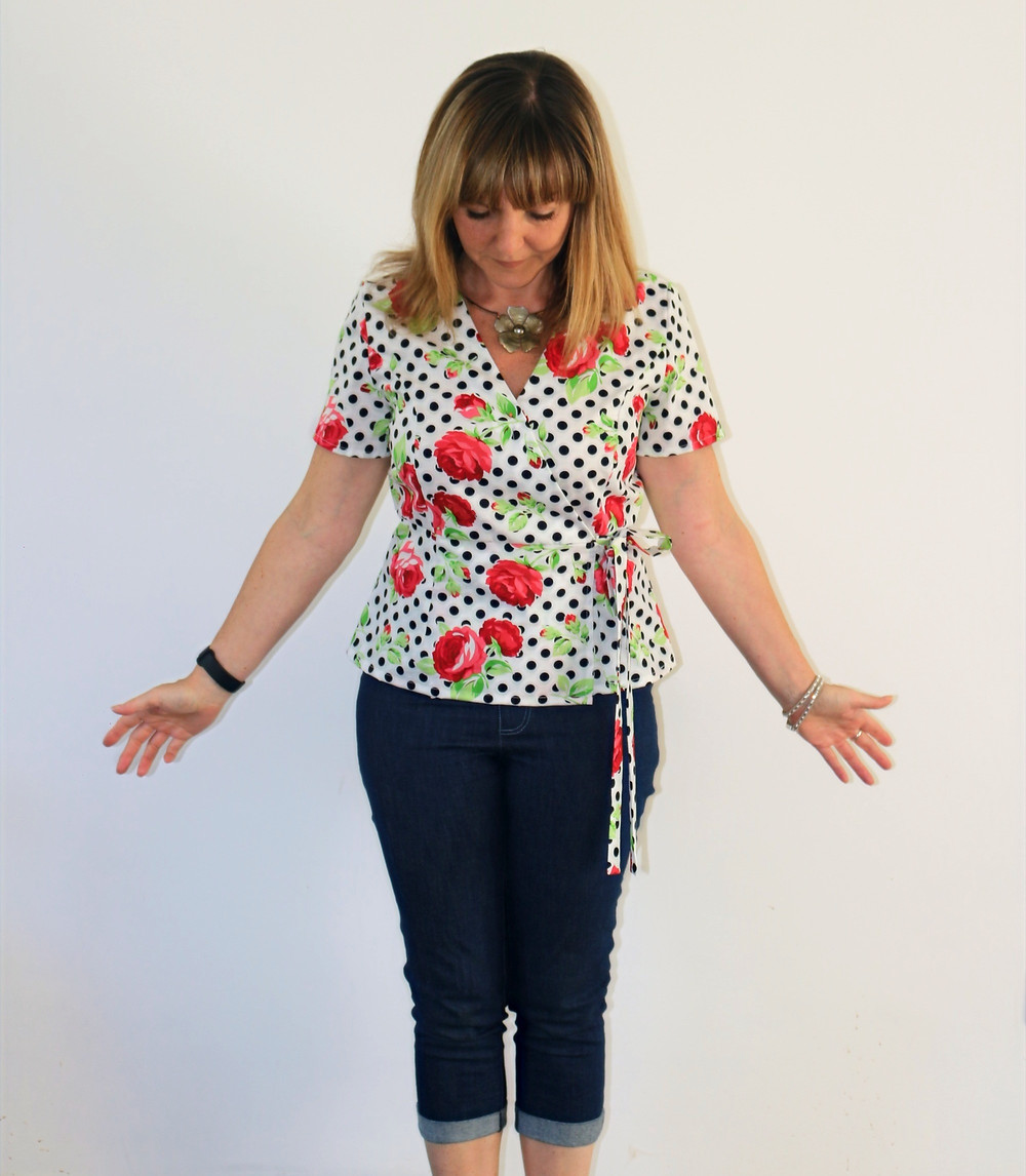 First version of hacked Simplicity 8735 in cotton