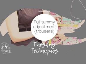 1.14 Full Tummy Adjustments (Trousers)