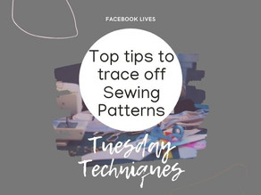 1.2 - Pattern jargon and top tips to trace off patterns