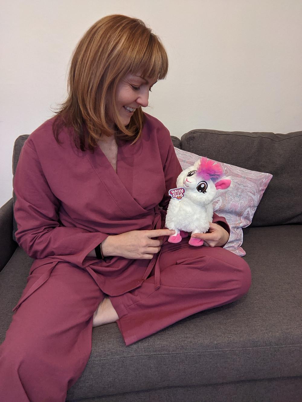 Pine Cove Pajamas appreciated by my llama