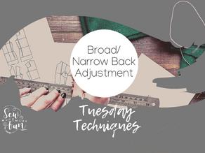1.9 Broad or Narrow Back Pattern Adjustment