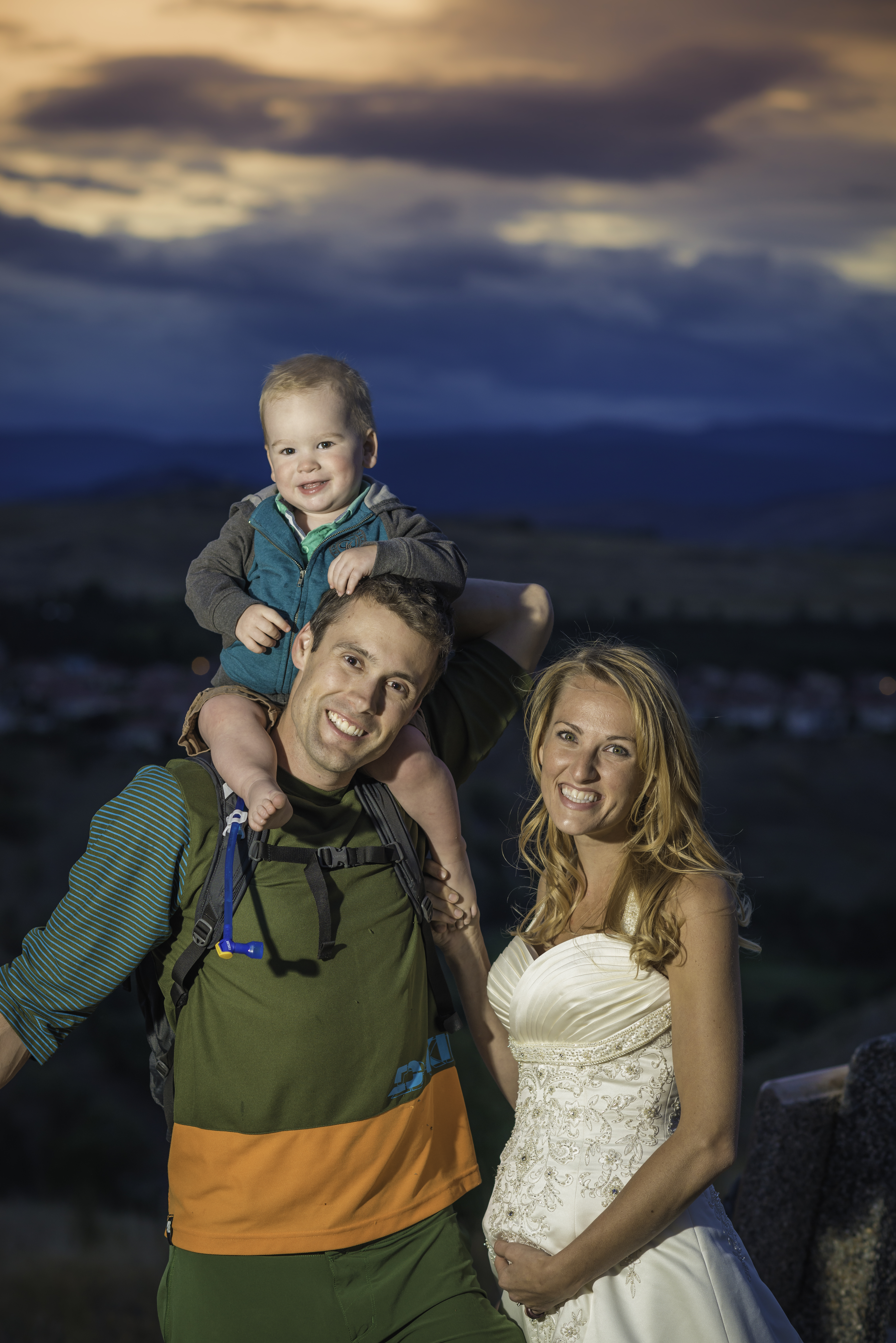 Mountain Bike, Bride, and Kid