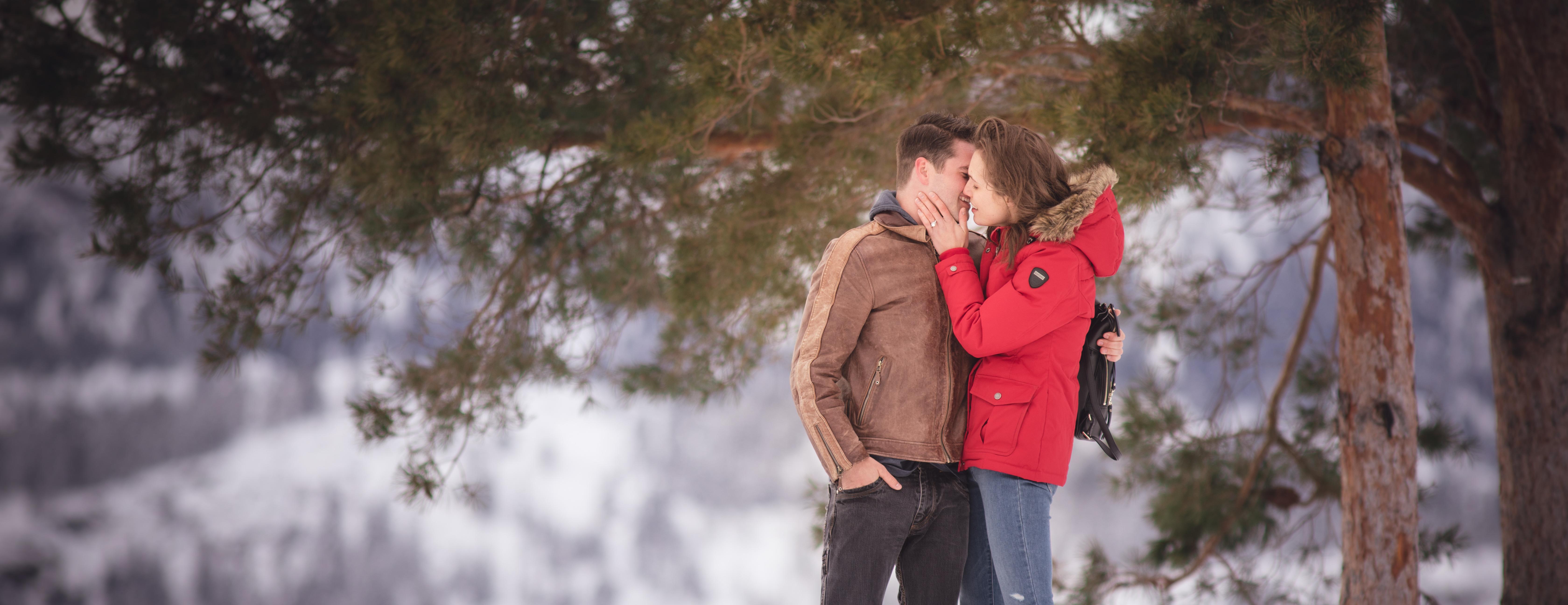 Kissing by Okanagan Lake