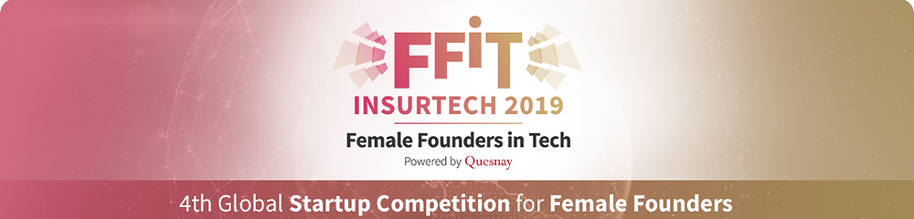 Female Founders in Tech logo. 4th Global Startup Competition for Female Founders