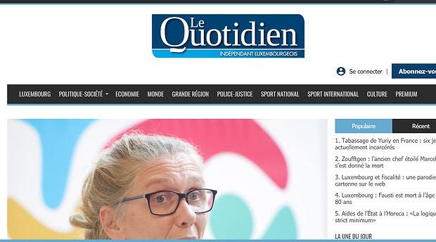 le quotidien journal media au Luxembourg
