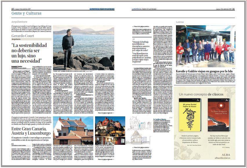 """Article dans le journal """"la provincia"""