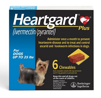 Heartgard Plus Chew for Dogs (Up to 25 lbs)