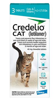 Credelio Chewable Tablets for Cats (4.1 - 17 lbs)